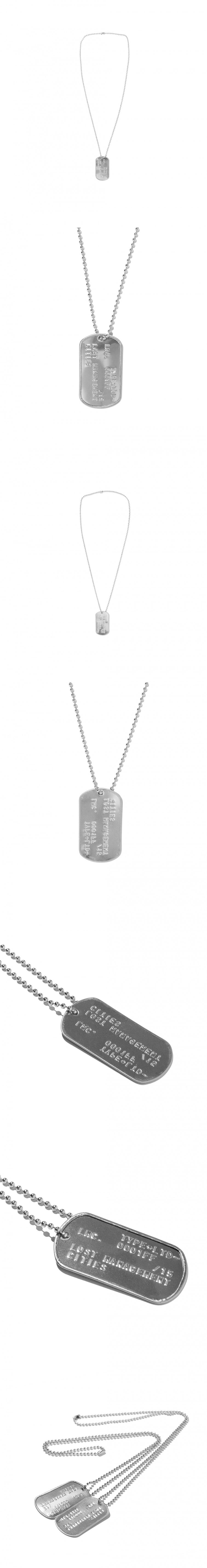 엘엠씨(LMC) LMC EMBOSSED LOGO DOG TAG REMADE BY LMC silver