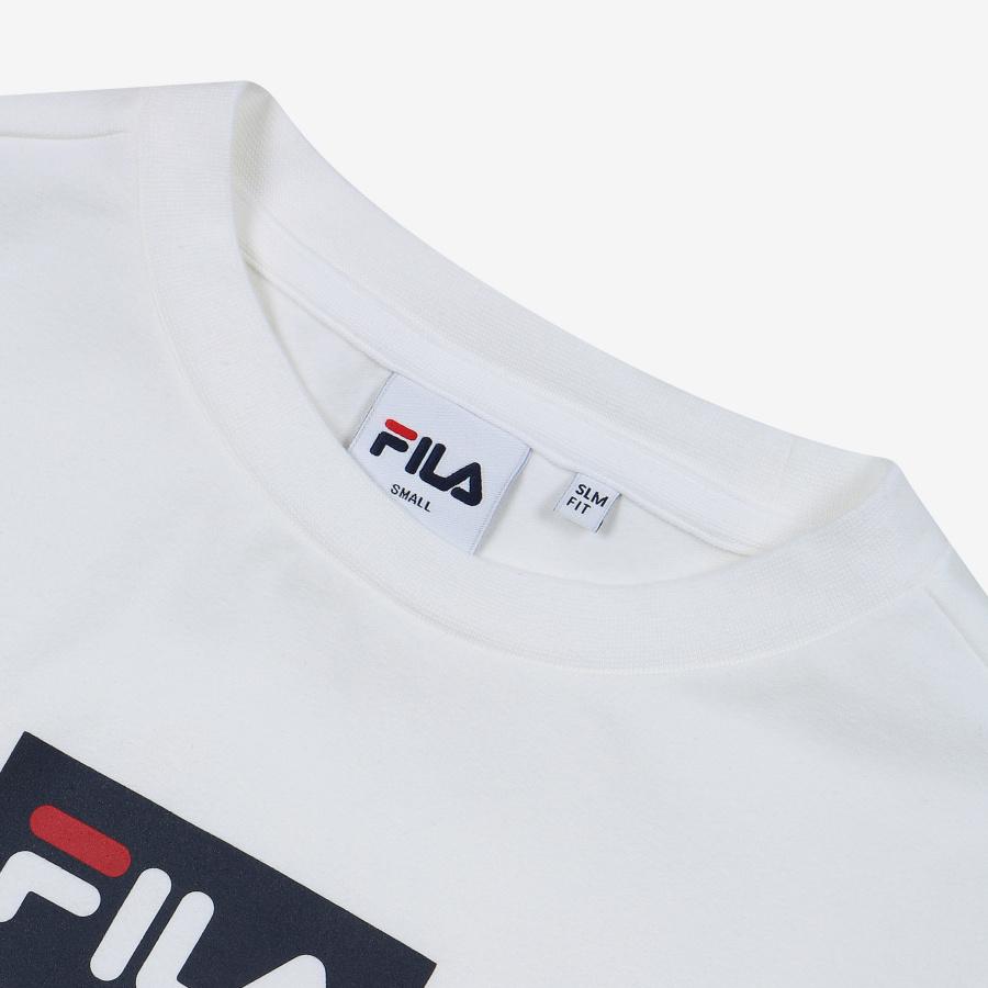 휠라(FILA) 레귤러핏 FILA 슬림핏 크롭 반팔티셔츠(FS2RSB2153FOWH)