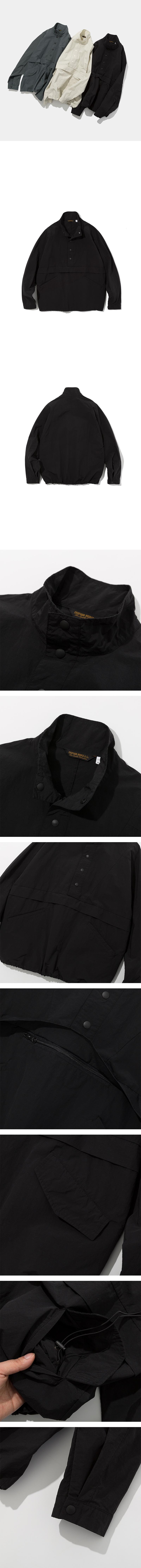 유니폼브릿지(UNIFORM BRIDGE) 19ss sports anorak jacket black