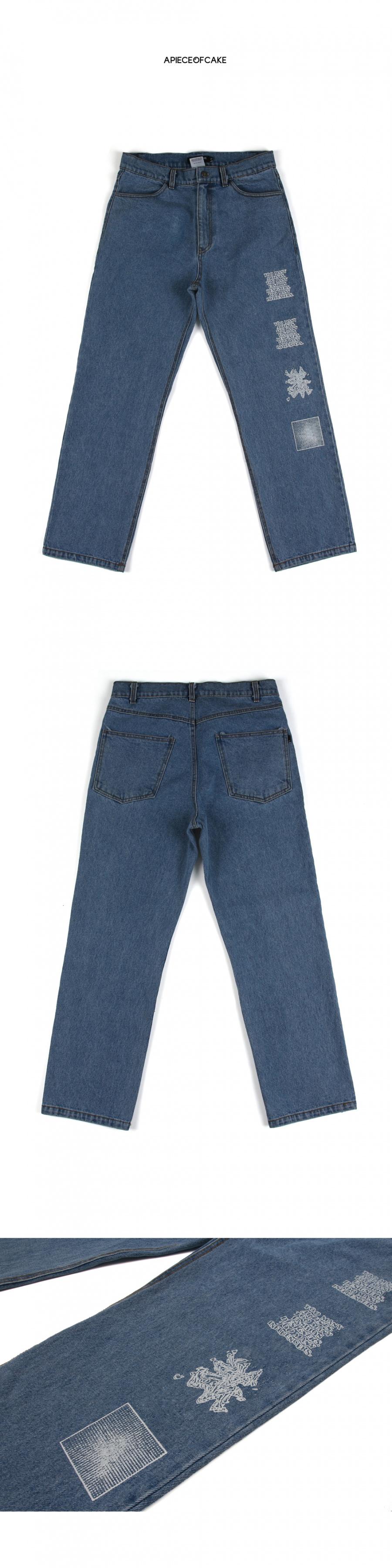 어피스오브케이크(APOC) TM Denim Pants_Blue