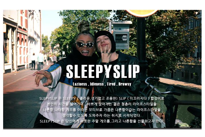 슬리피슬립(SLEEPYSLIP) [unisex]SIGNATURE BLACK NEWSBOY CAP