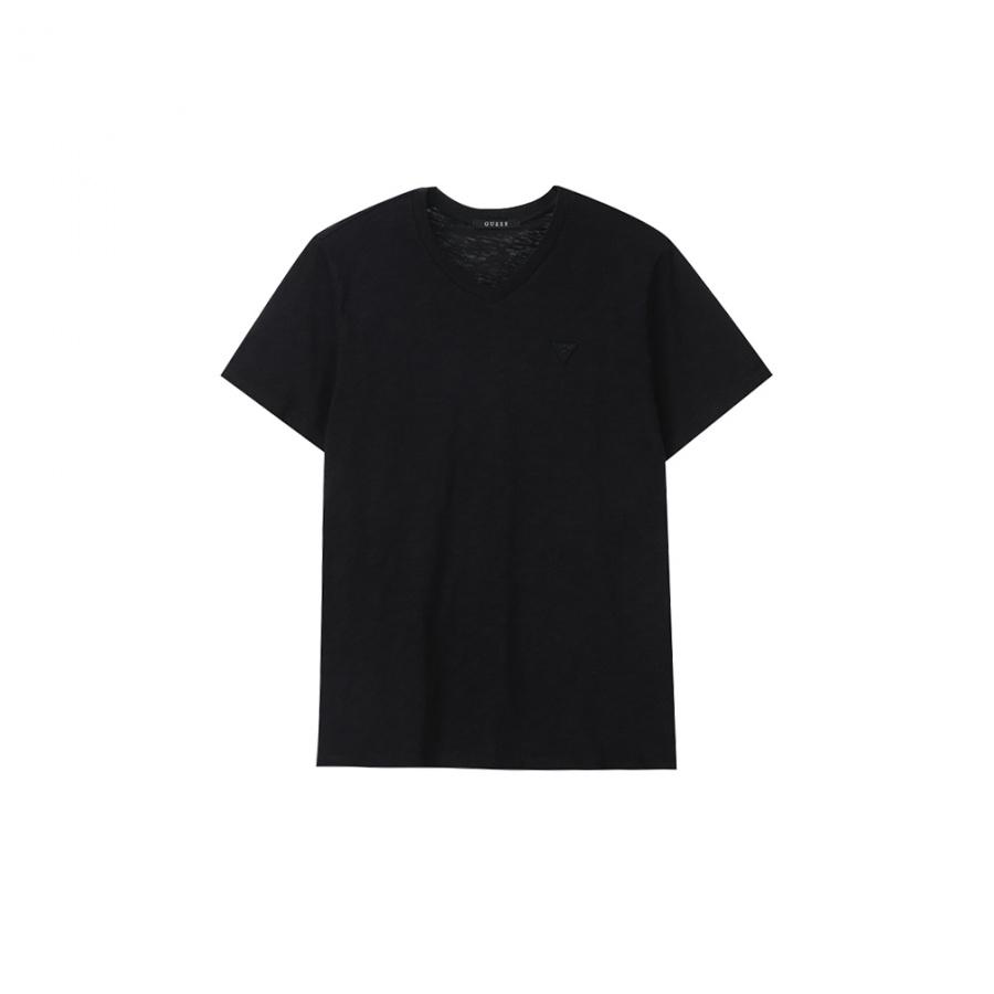 게스(GUESS) 남성 기획 미니▽ V넥 슬럽 반팔 티셔츠