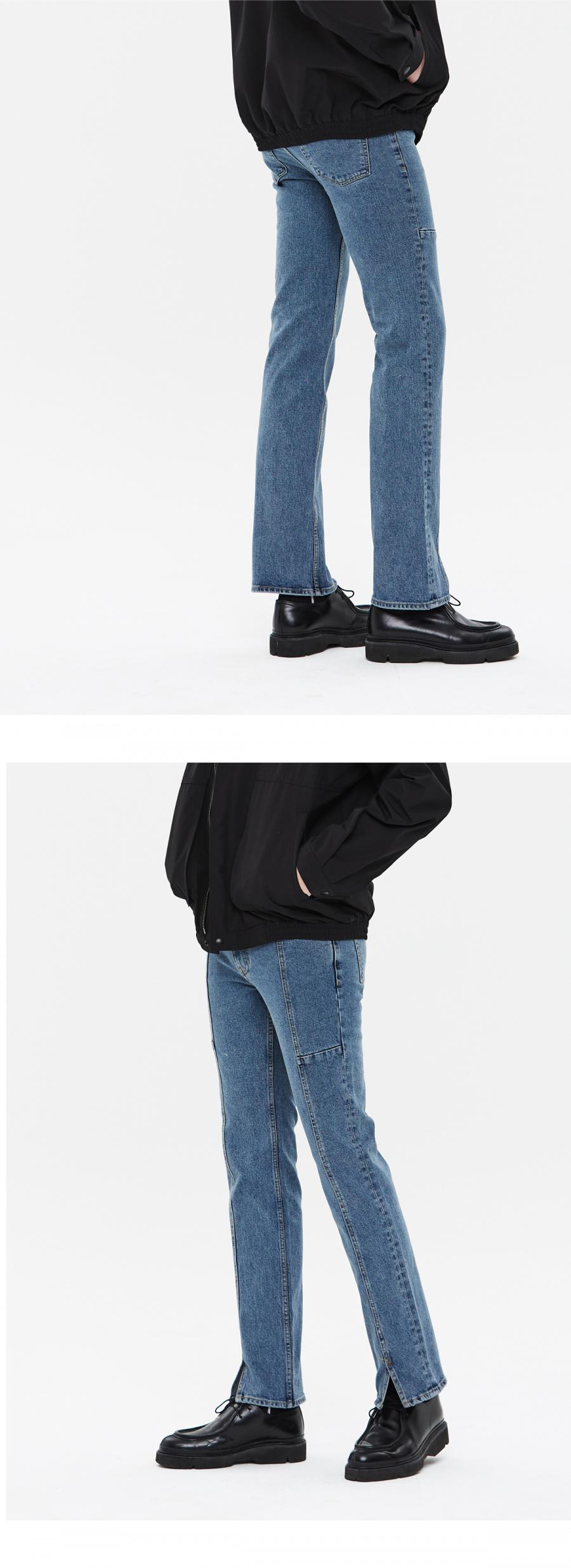 86로드(86ROAD) Front Slit Jean(MID BLUE)