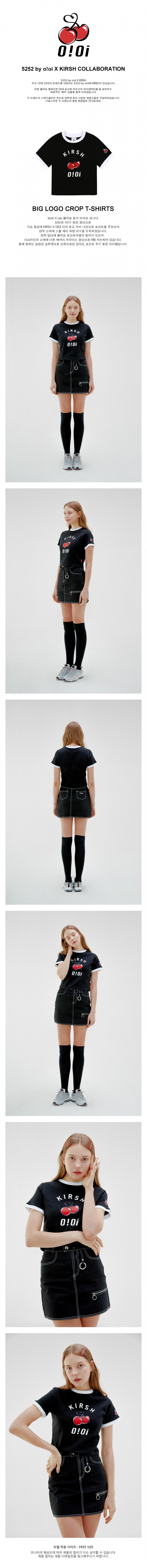 5252 바이 오아이오아이 X 키르시(O!Oi X KIRSH) [O!Oi X KIRSH] BIG LOGO CROP T-SHIRTS_black