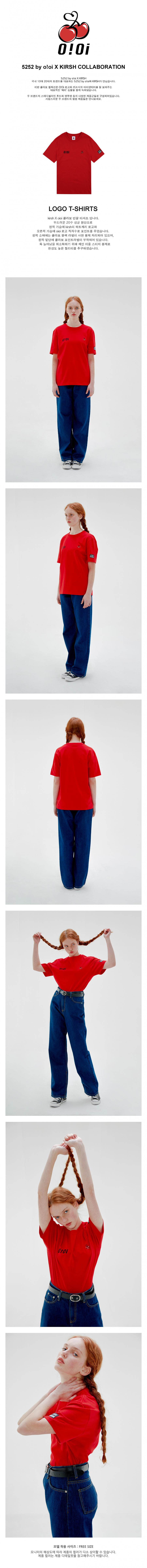 5252 바이 오아이오아이 X 키르시(O!Oi X KIRSH) [O!Oi X KIRSH] LOGO T-SHIRTS_red