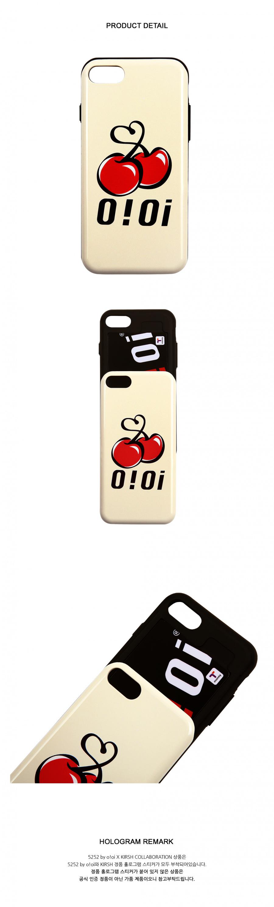 5252 바이 오아이오아이 X 키르시(O!Oi X KIRSH) [O!Oi X KIRSH] BIG LOGO BUMPER PHONE CASE