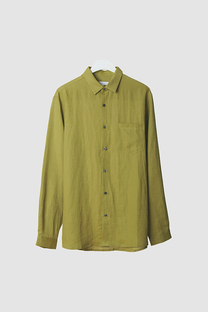 더 티셔츠 뮤지엄(THE T-SHIRT MUSEUM) 19ss premium linen shirt [avocado]