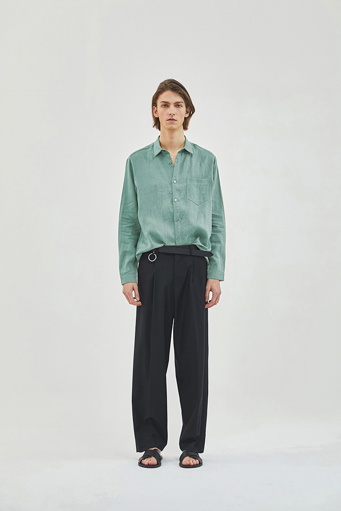 더 티셔츠 뮤지엄(THE T-SHIRT MUSEUM) 19ss premium linen shirt [mint]