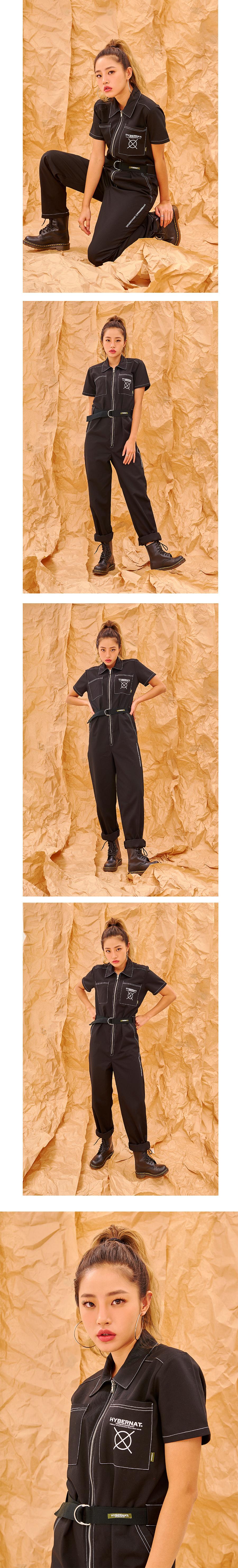 하이버넷(HYBERNAT) Suzuki Coverall Jumpsuit-Black