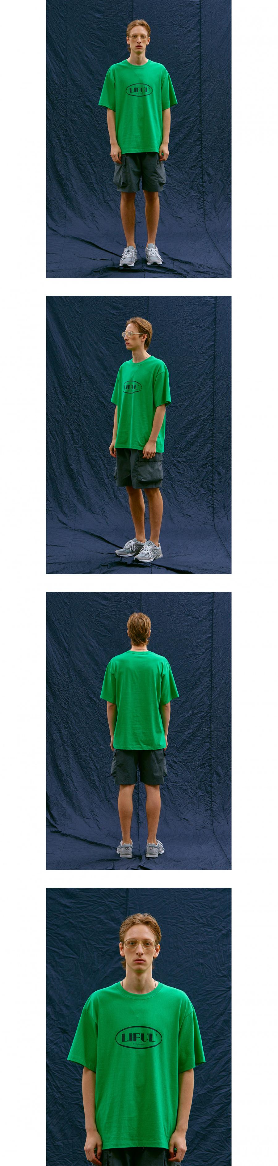 라이풀(LIFUL) OVAL LOGO TEE green