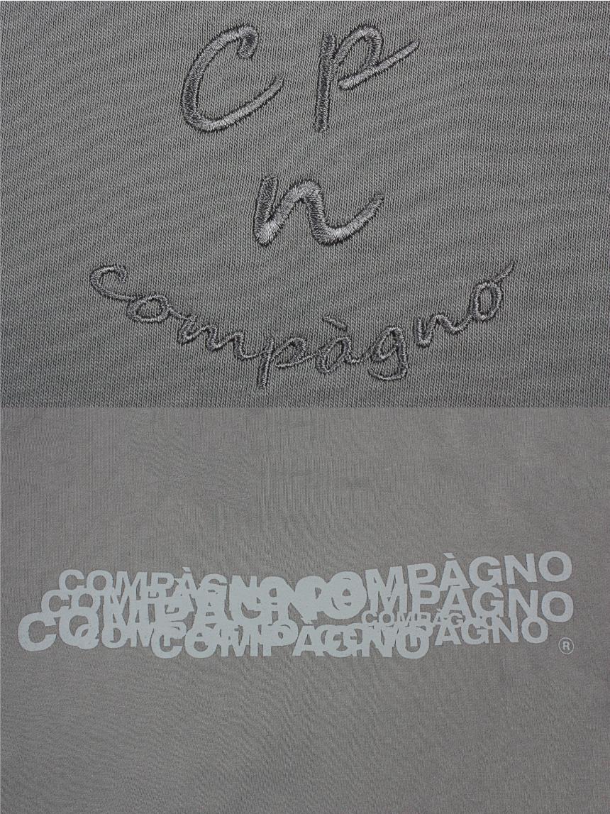 꼼파뇨(COMPAGNO) MTM Cpn Logo 자수 맨투맨 딥그레이