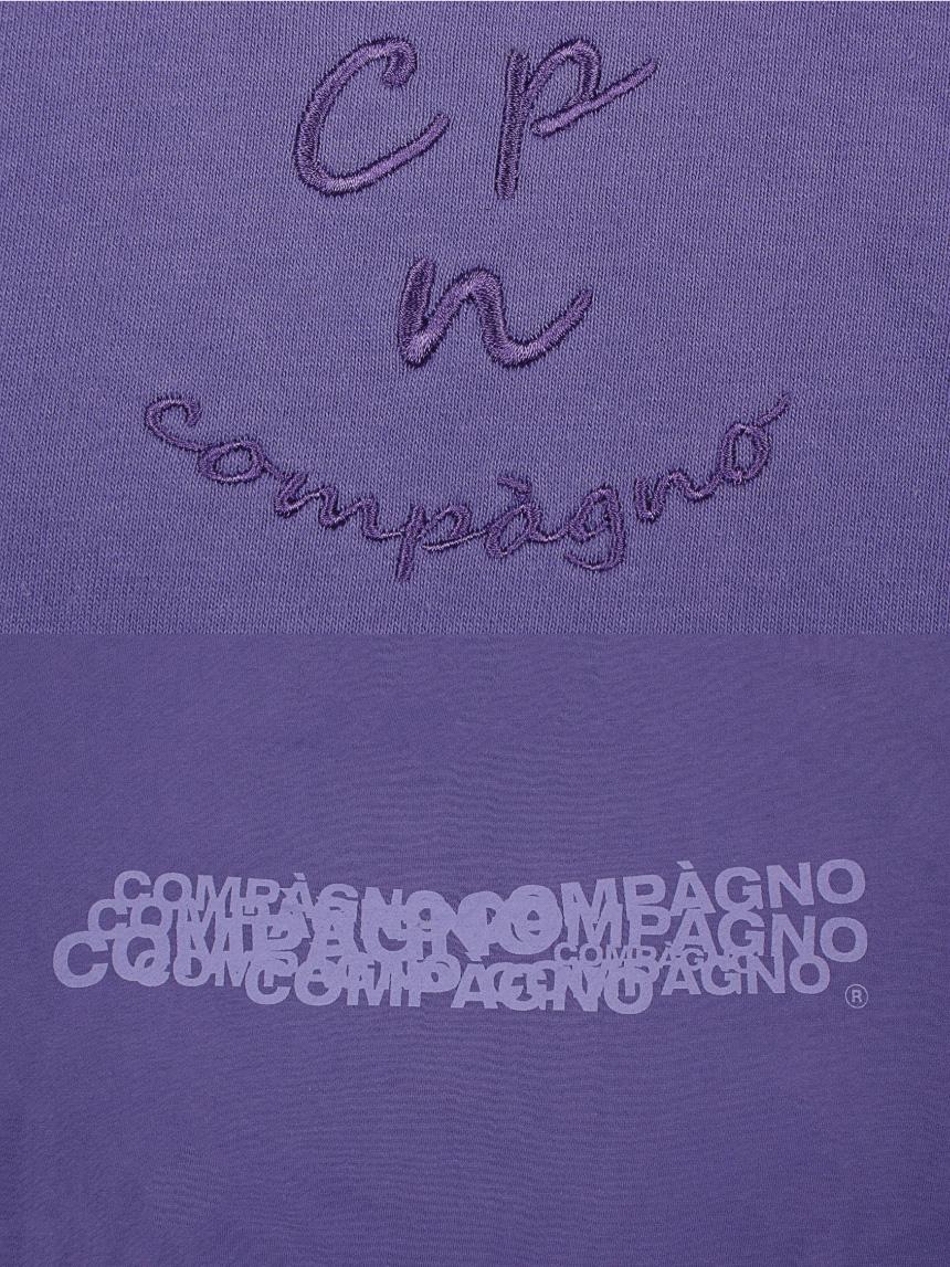 꼼파뇨(COMPAGNO) MTM Cpn Logo 자수 맨투맨 라이트퍼플