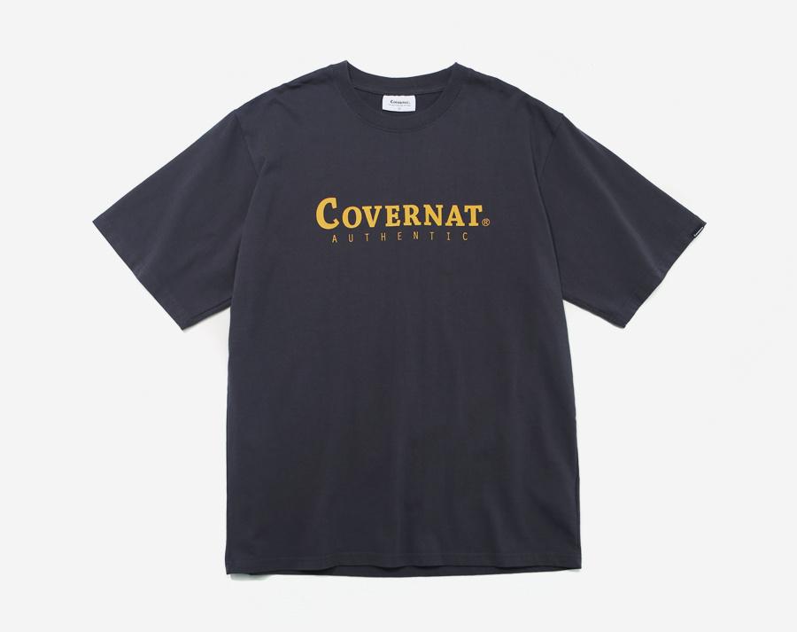 커버낫(COVERNAT) S/S AUTHENTIC LOGO TEE CHARCOAL