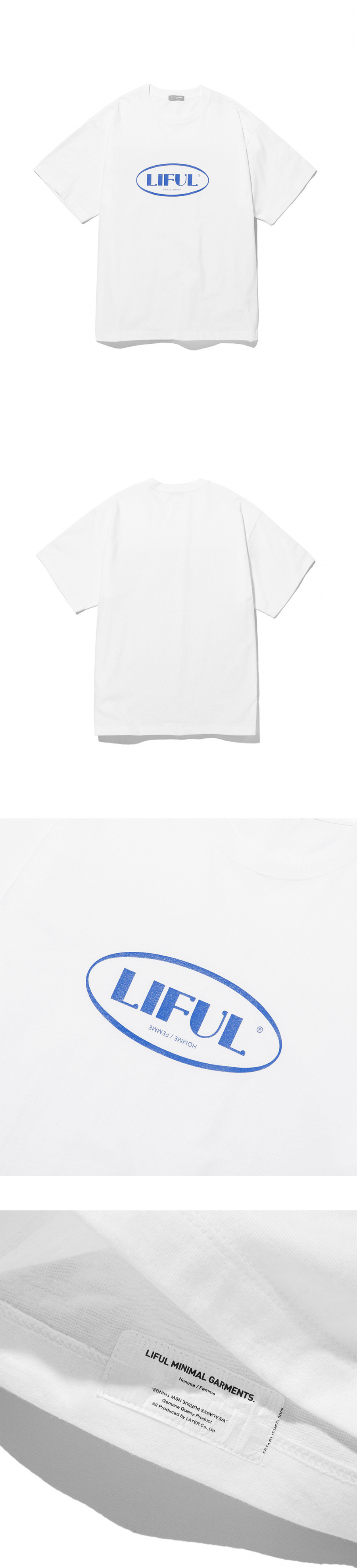 라이풀(LIFUL) OVAL LOGO TEE snow white