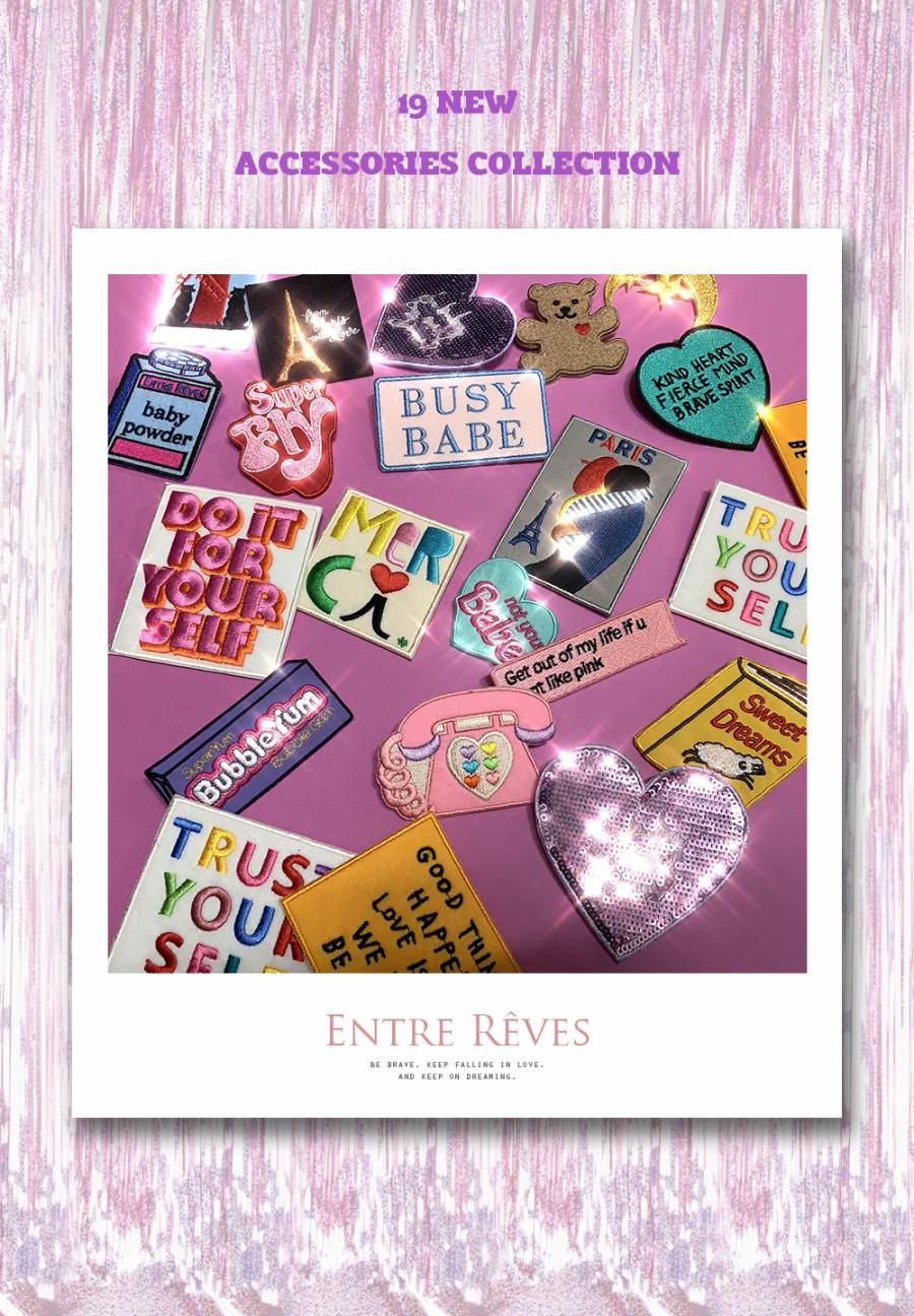 앙트레브(ENTRE REVES) I LOVE PARIS PATCH SET