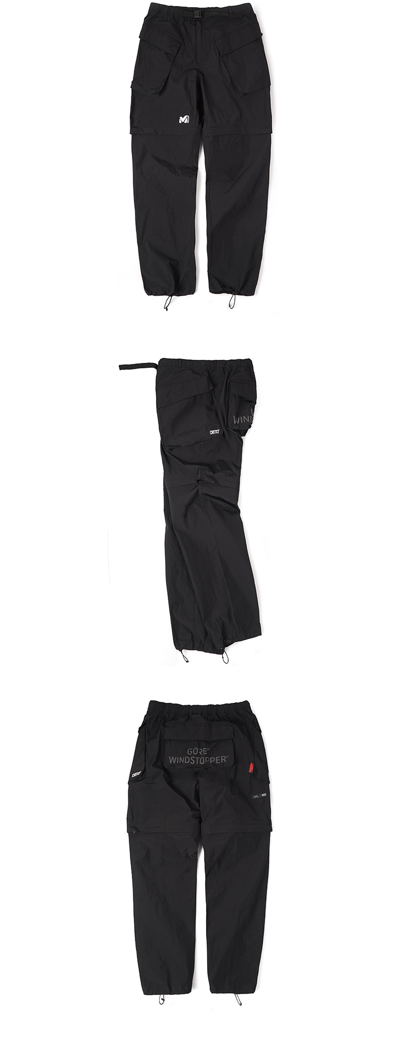 밀레 클래식(MILLET CLASSIC) MILLET X CRITIC WINDSTOPPER PANTS_BLACK