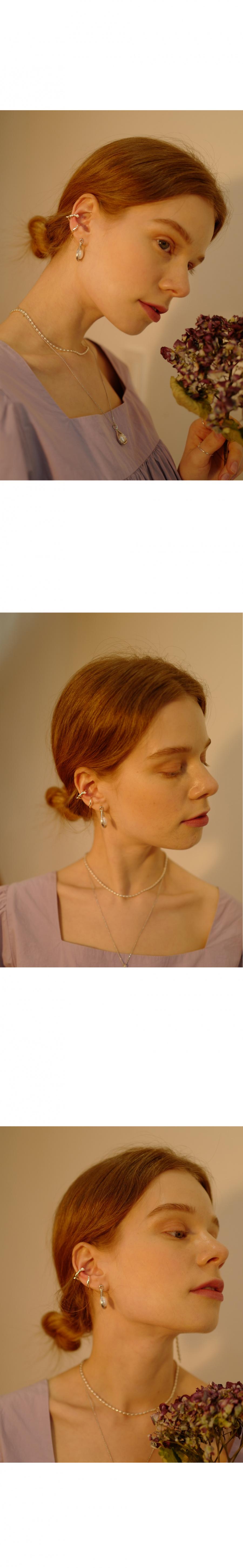 피오레(FIORE) pearl ribbon earrcuff