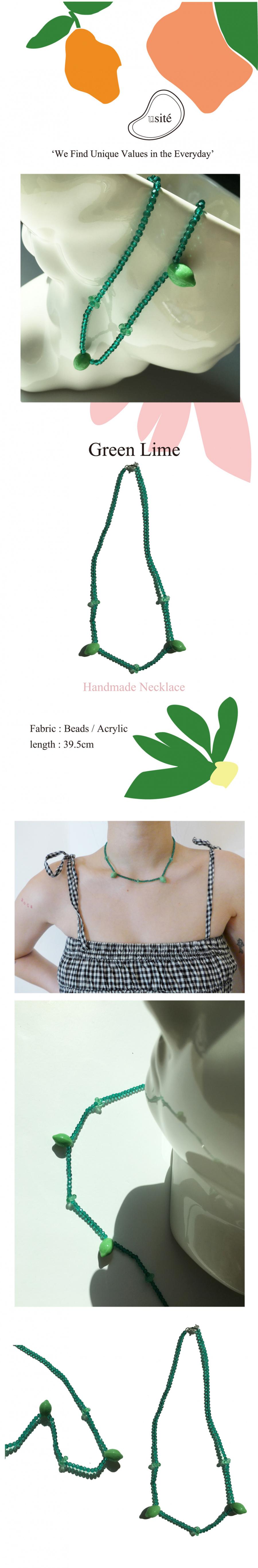 유지떼(USITE) Green Lime Necklace