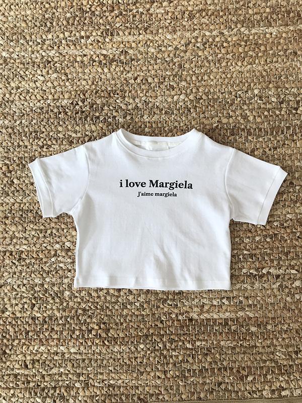 아타르(ATAR) 마르지엘라 반팔 크롭탑 티셔츠 화이트