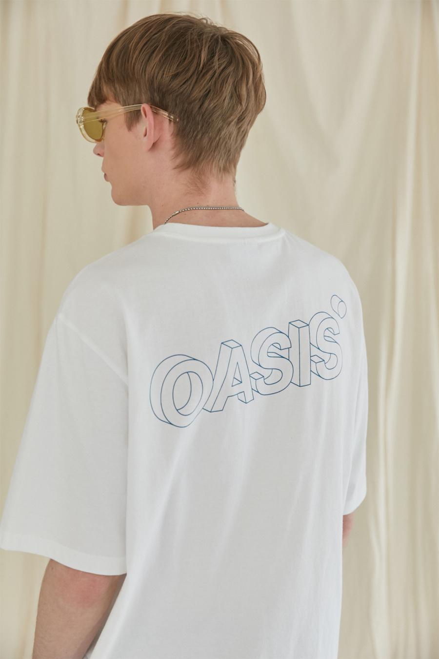 이스트쿤스트(IST KUNST) 오아시스 3D 로고 티셔츠_화이트(IK1JMMT512A)