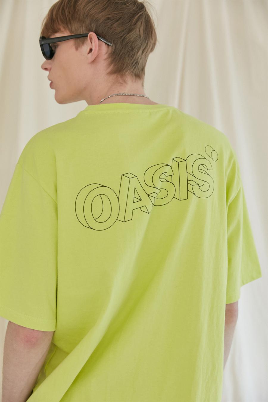이스트쿤스트(IST KUNST) 오아시스 3D 로고 티셔츠_라임(IK1JMMT512A)