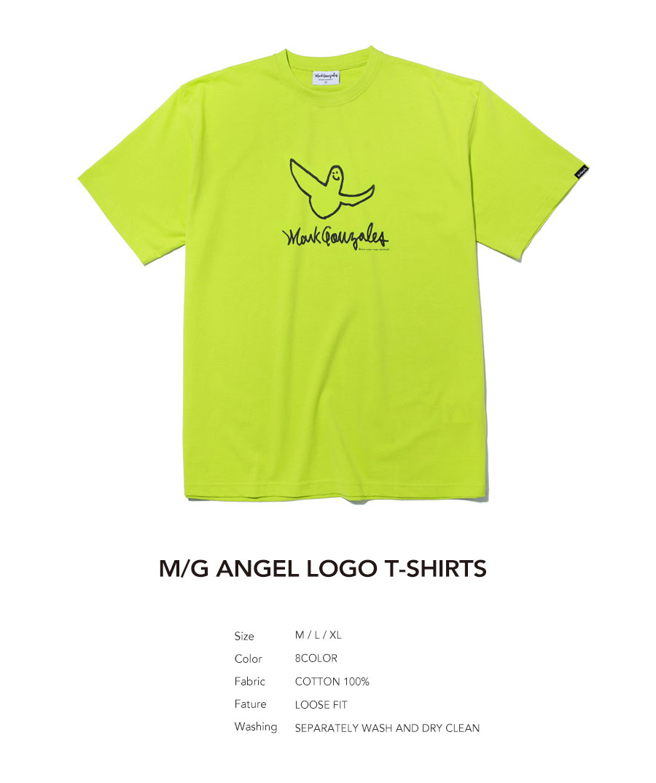 마크 곤잘레스(MARK GONZALES) M/G ANGEL LOGO T-SHIRTS NEON