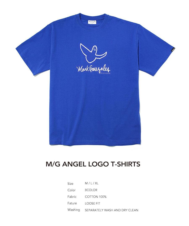 마크 곤잘레스(MARK GONZALES) M/G ANGEL LOGO T-SHIRTS BLUE