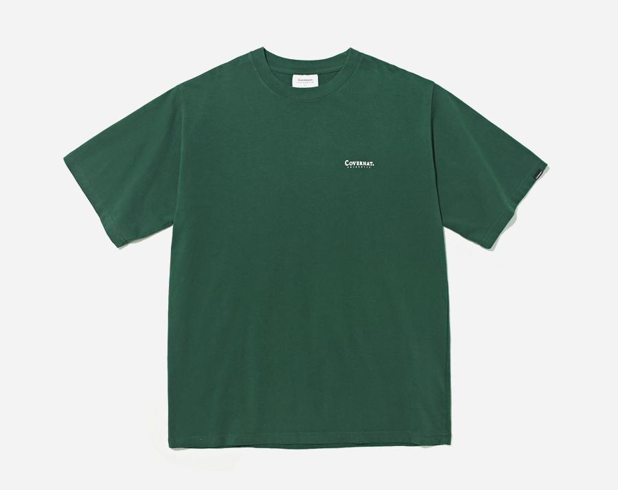 커버낫(COVERNAT) S/S SMALL AUTHENTIC LOGO TEE GREEN