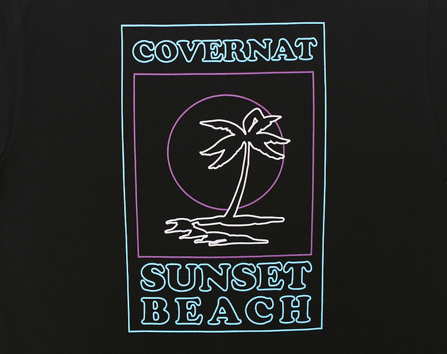 커버낫(COVERNAT) S/S LINE PALM TREE TEE BLACK