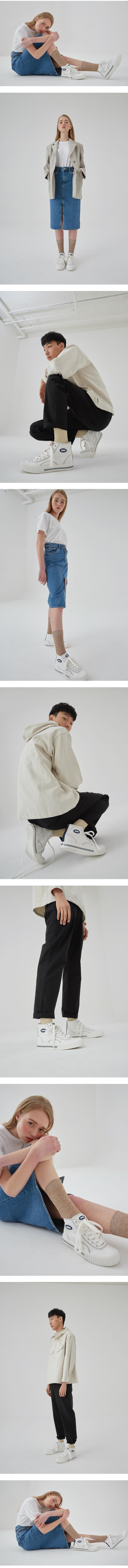 엠에스엠에스(MSMS) Madeleine High Shoes White