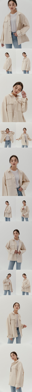 레이디 볼륨(LADY VOLUME) [UNISEX] Overfit big pocket cotton jacket _ ivory