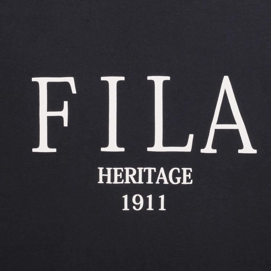 휠라(FILA) 헤리티지 세리프 로고 루즈핏 반팔티 (FE2RSB5109XBLK)