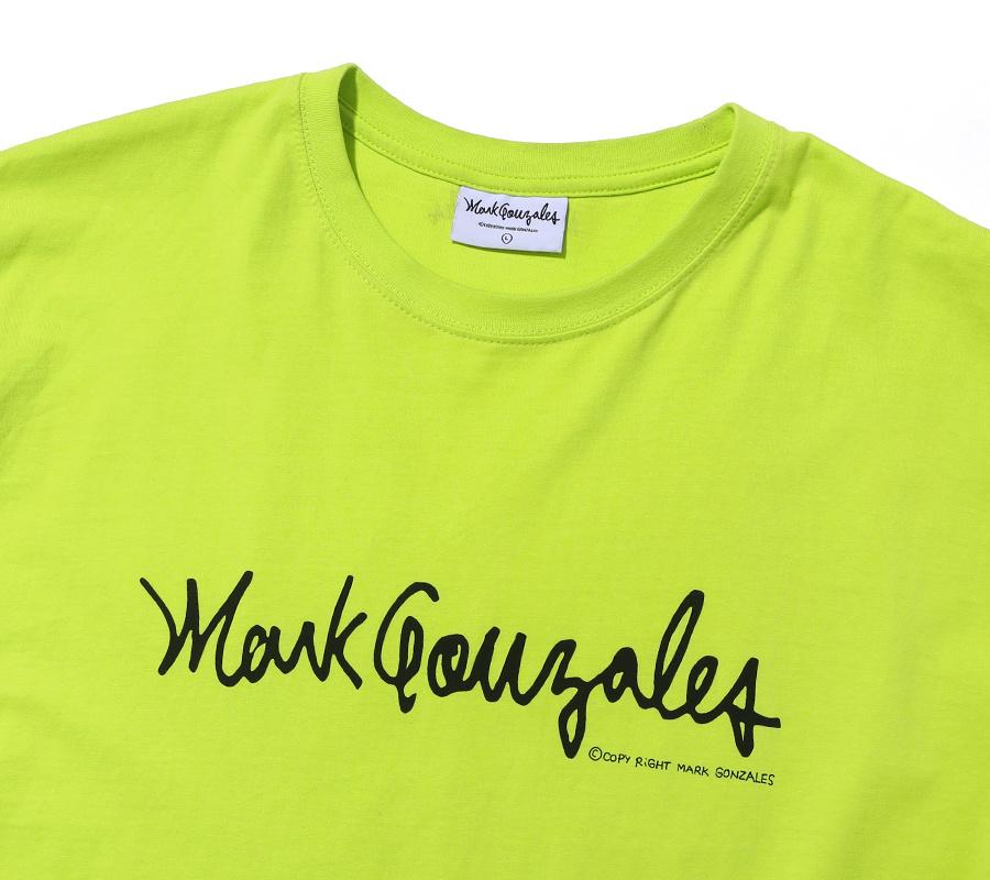 마크 곤잘레스(MARK GONZALES) M/G SIGN LOGO T-SHIRTS NEON