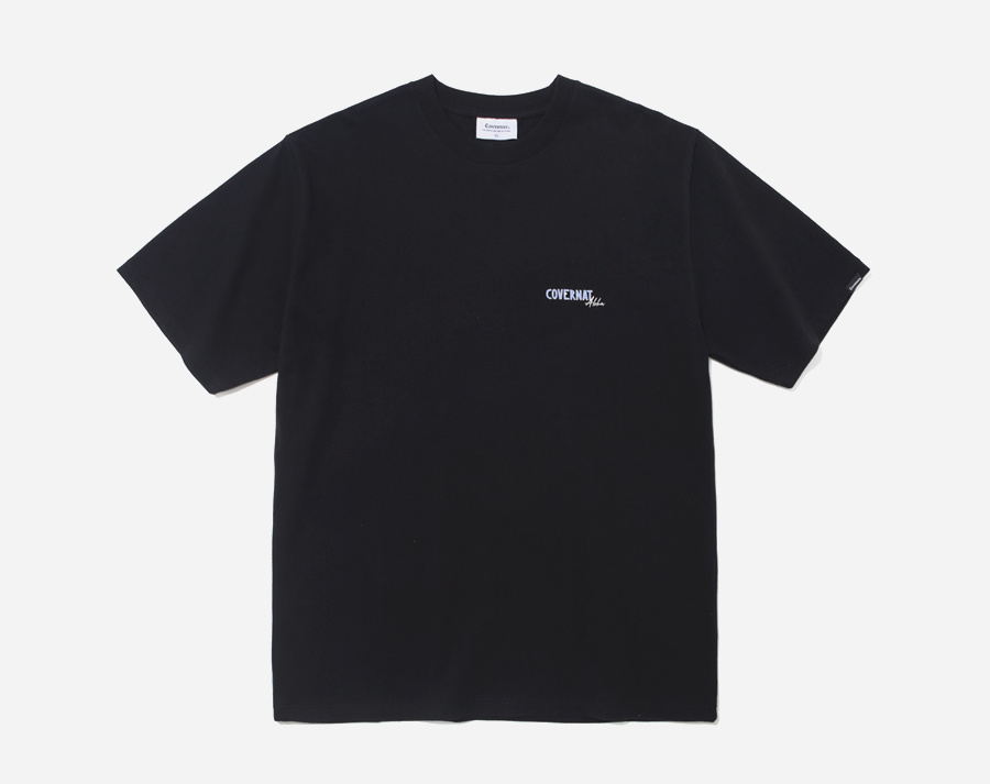 커버낫(COVERNAT) S/S ALOHA SUNSET TEE BLACK