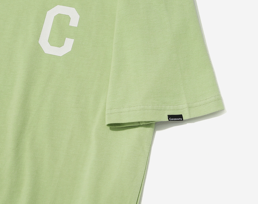 커버낫(COVERNAT) S/S C LOGO TEE CORAL GREEN