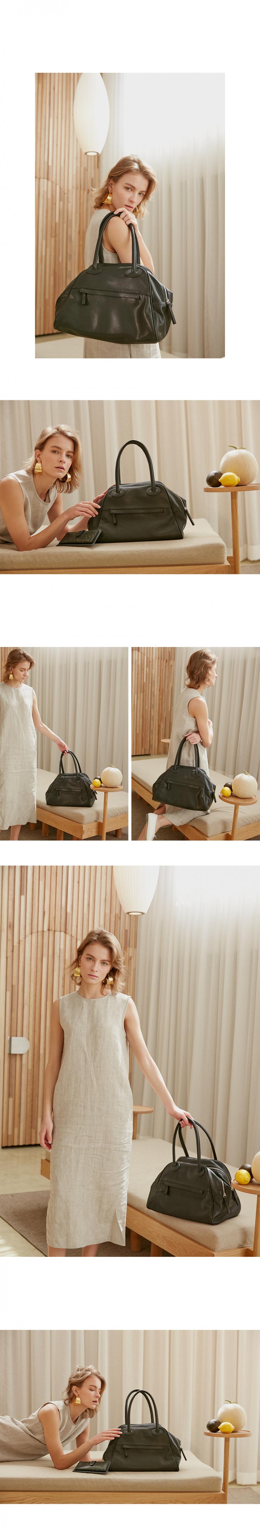 크리스틴프로젝트(CHRISTINE PROJECT) TWO ZIPPER BAG(BLACK PEPPER)  투지퍼백