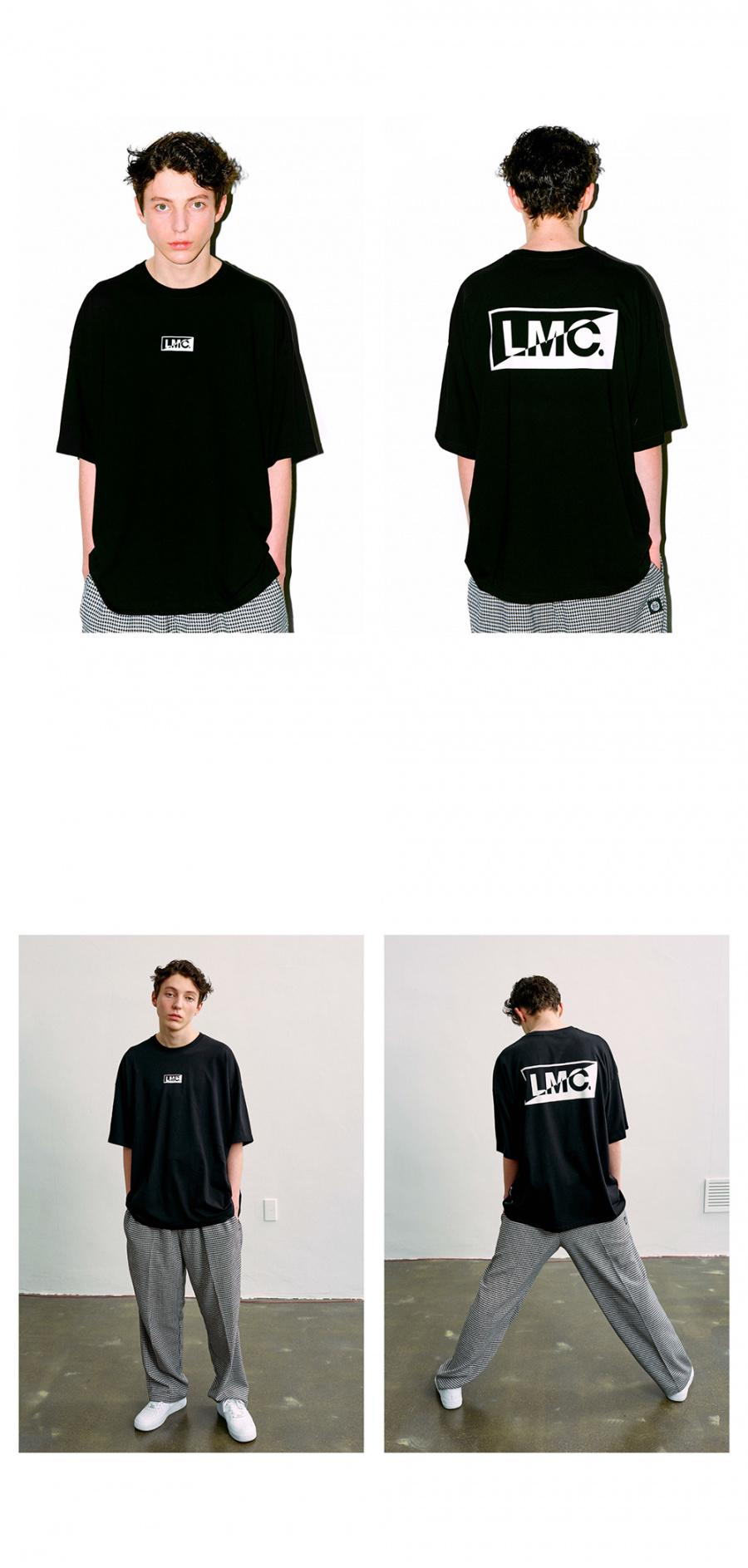 엘엠씨(LMC) LMC BOX HALF LOGO TEE black