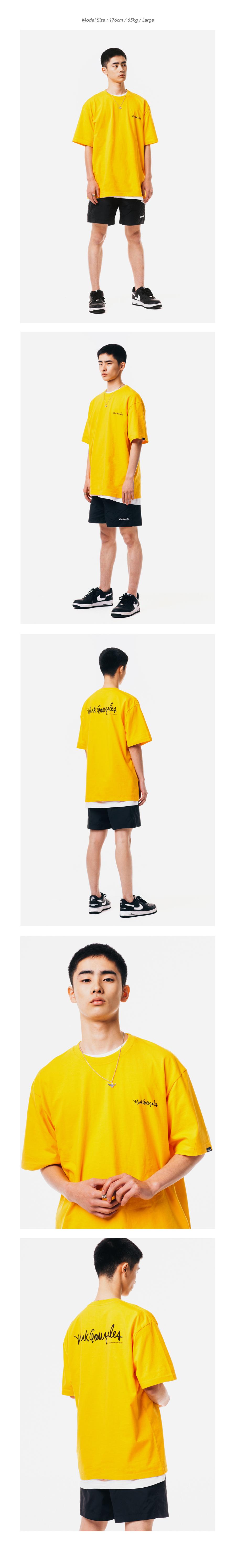 마크 곤잘레스(MARK GONZALES) M/G SMALL SIGN LOGO T-SHIRTS WHITE