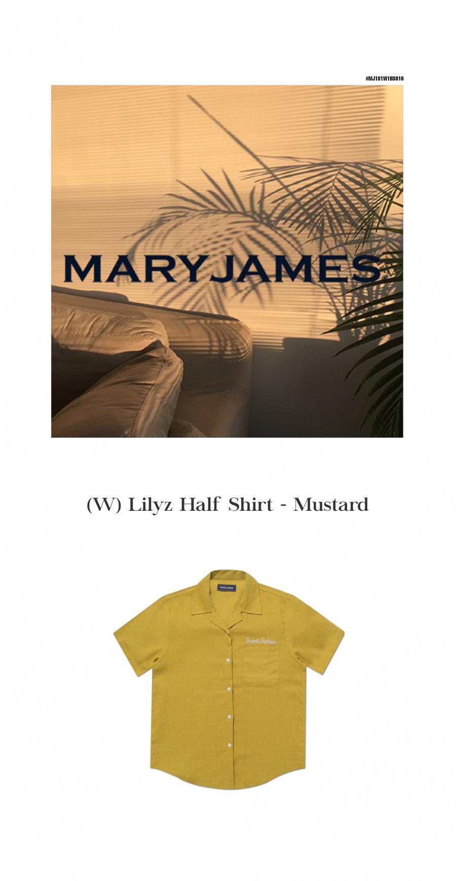 메리제임스(MARYJAMES) (W) Lilyz Half Shirt - Mustard