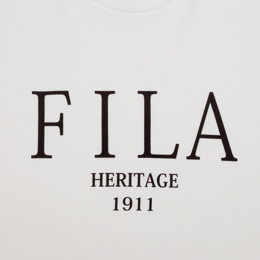 휠라(FILA) 헤리티지 세리프 로고 루즈핏 반팔티 (FE2RSB5109XOWH)