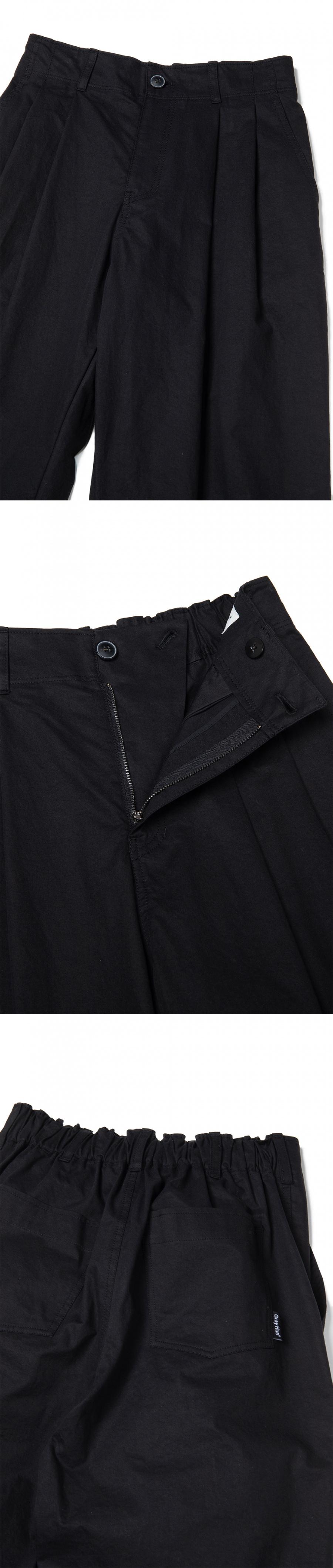 그레이휴(GRAY HUE) Wide Banding Pants black G9M4P331 99