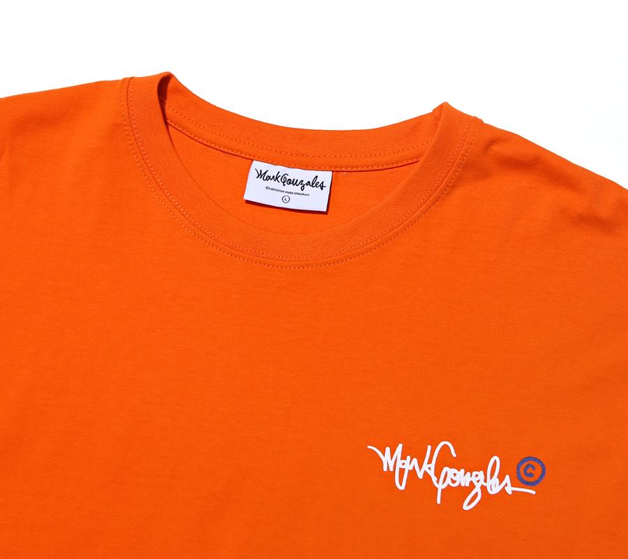 마크 곤잘레스(MARK GONZALES) M/G COPYRIGHT T-SHIRTS ORANGE