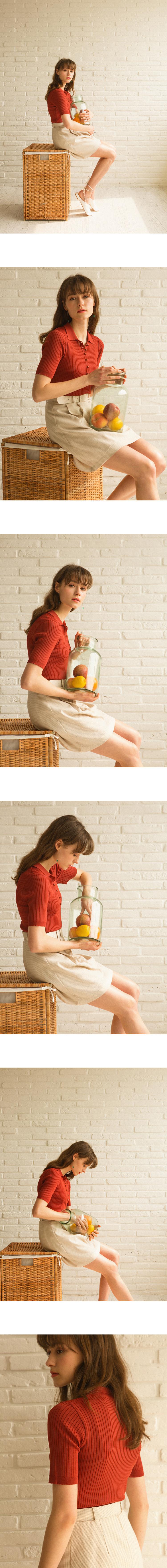 몬츠(MONTS) 915 collar button knit (black)