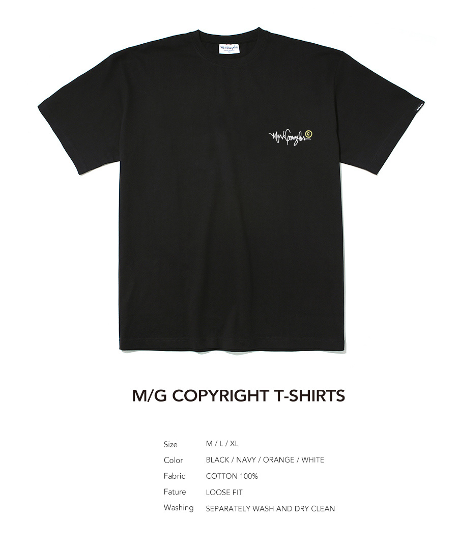 마크 곤잘레스(MARK GONZALES) M/G COPYRIGHT T-SHIRTS BLACK