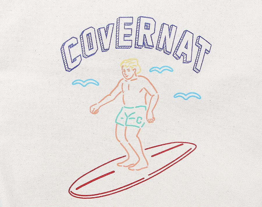 커버낫(COVERNAT) SURFER MAN ECO BAG WHITE