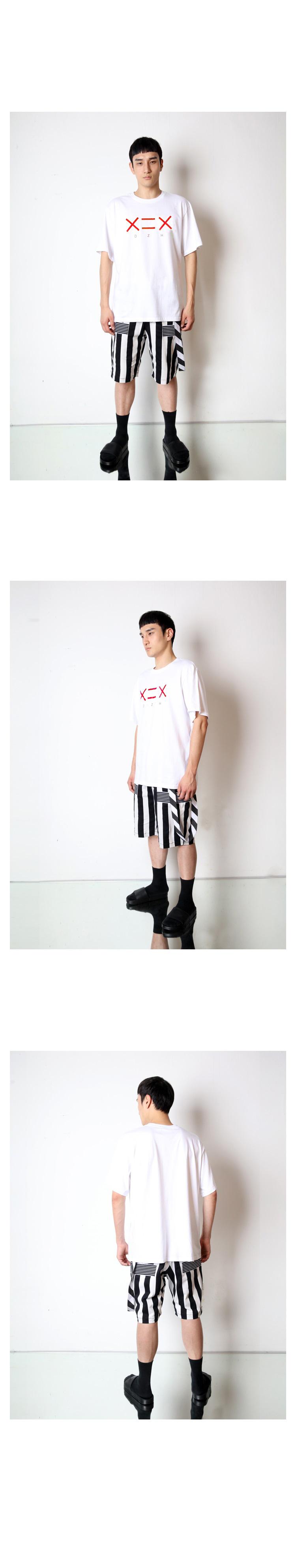 도조(DOZOH) WHITE DZH F/RED LOGO T-SHIRTS