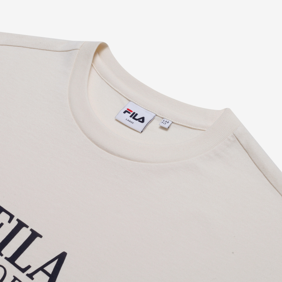 휠라(FILA) 세리프 스포츠 F로고 루즈핏 반팔티셔츠(FE2RSB5108XCRM)