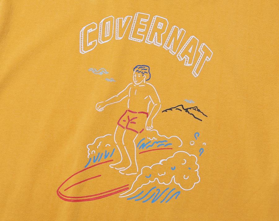 커버낫(COVERNAT) S/S SURFER MAN TEE MUSTARD