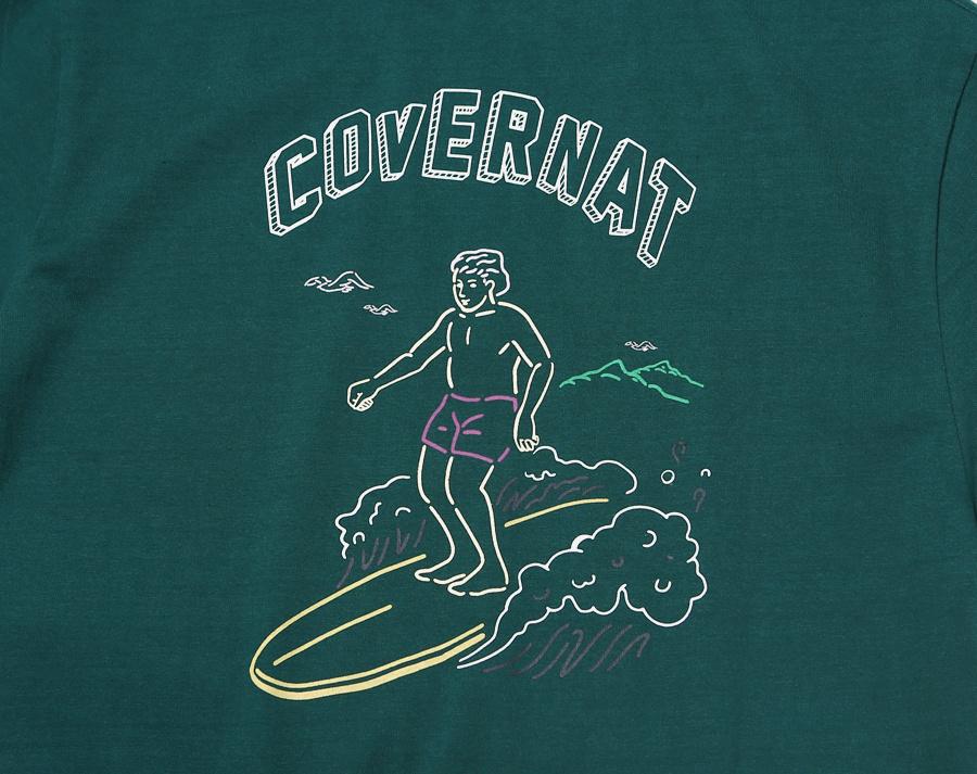 커버낫(COVERNAT) S/S SURFER MAN TEE GREEN