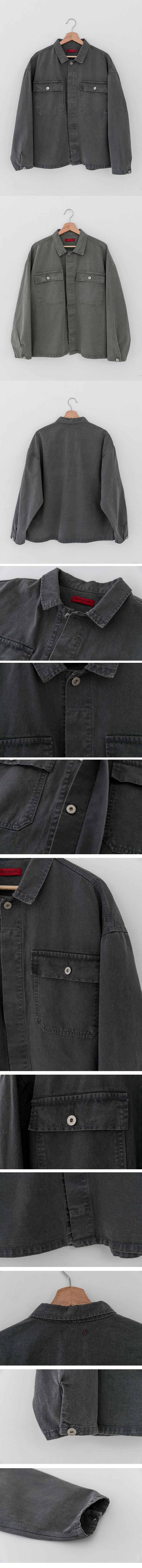 레이디 볼륨(LADY VOLUME) [남여공용]pigment  trucker jacket_grey